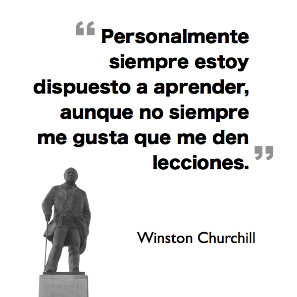 Churchill y las ganas de aprender