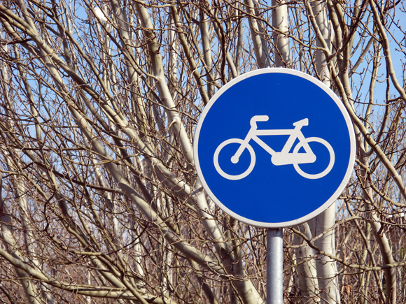 Señal de tráfico de carril bici