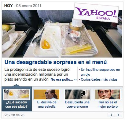 Resumen de notícia de Yahoo España