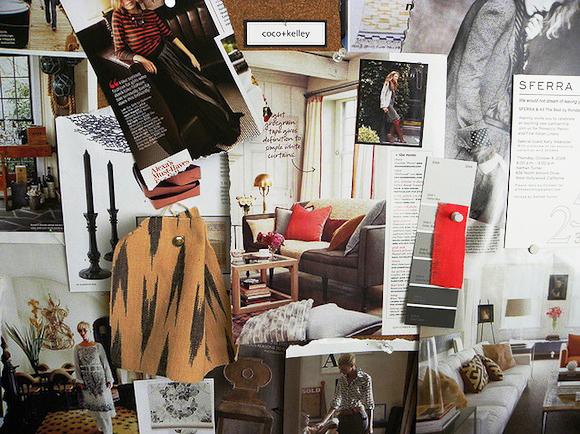 Tablero inspirador de diseñador de moda