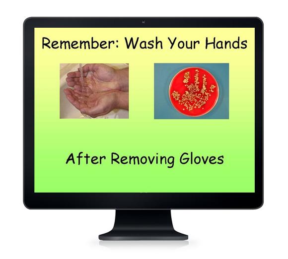 Salvapantallas recordando la importancia de lavarse las manos