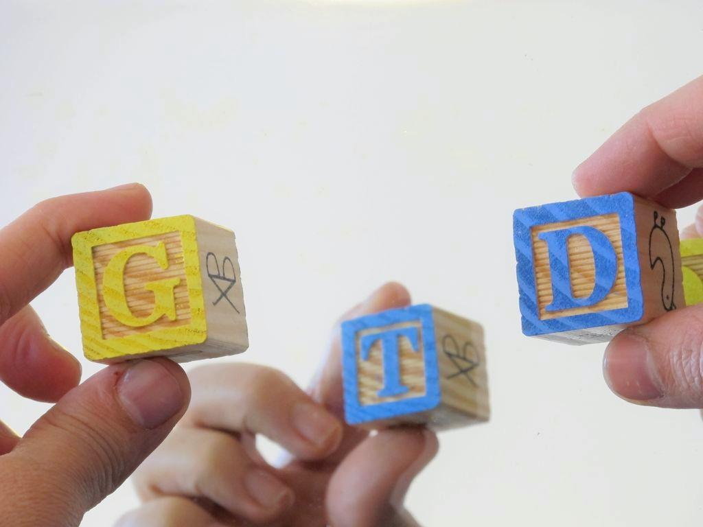 GTD con letras de madera