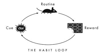 Ejemplo de ciclo de hábito