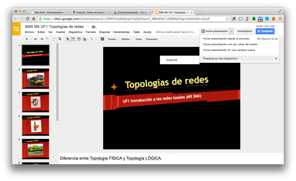 Iniciar presentacion de Google Drive en Chromecast