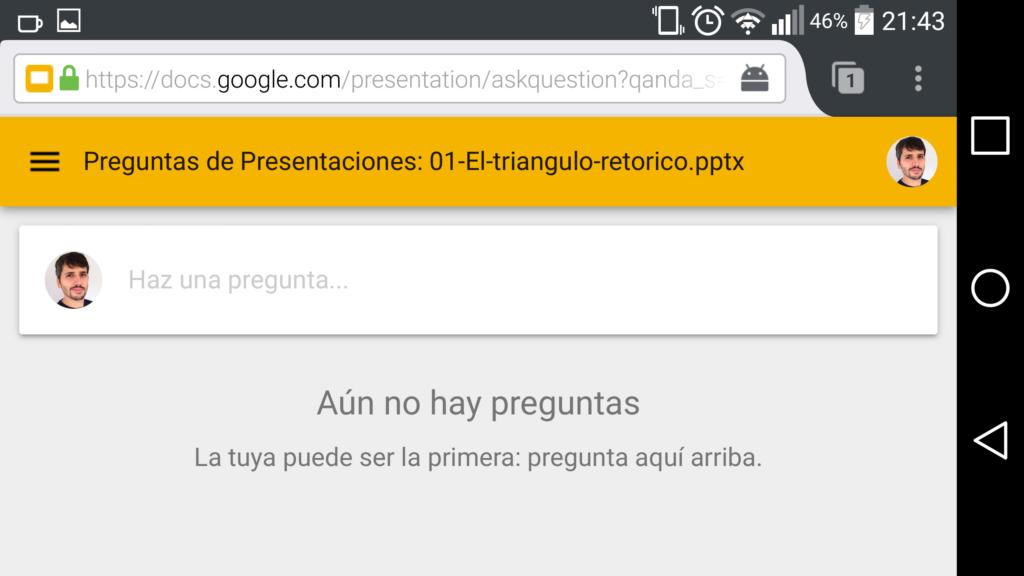 Aún no hay preguntas - Presentaciones Google