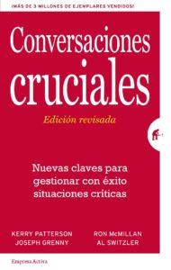 """Portadad el libro """"Conversaciones cruciales"""""""