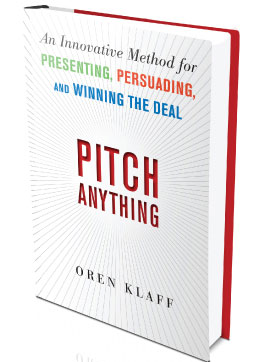 "Portada del libro ""Pitch Anything"" de Oren Klaff"