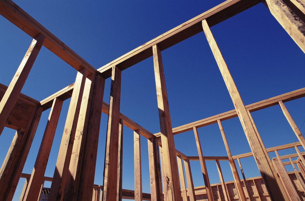 Estructura de madera de una casa