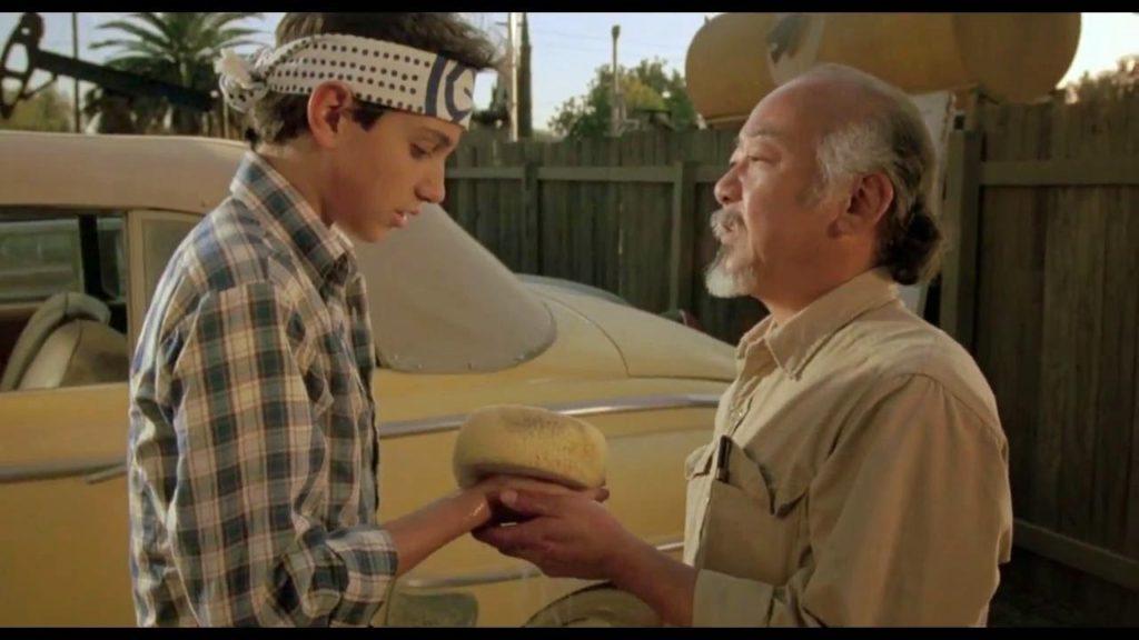 Escena de la película Karate Kid